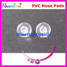 PV40  eyeglasses pvc nose pads 9mm Push-in type  glasses accessories free shipping