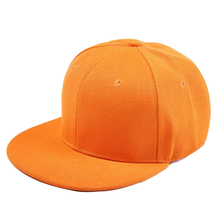 Plain Re-entry Hip-Hop Baseball Cap Boy Adjustable Hat Orange