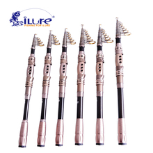 iLure Fishing Carbon Rod 1.8M-3.3M Line 8-17Lb Portable telescopic fishing spinning rod equipment fishing tackle angel rod Pesca(China)