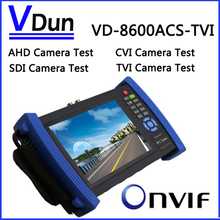VD-8600ACS-TVI 7 inch Touch Screen IP Camera CCTV Security Tester IPC Tester With ( AHD+CVI+SDI+TVI  ) POE HDMI Output