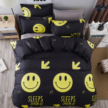comforter set Smiling face / Smile king queen Singl size 4pc / 3pc bedding sets bedclothes quilt cover bed sheet pillowcases