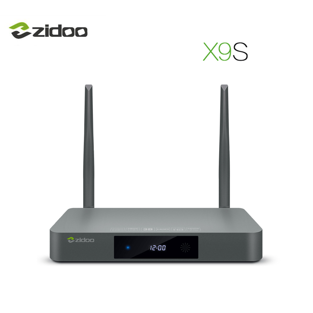 ZIDOO X9S IPTV Media Player Android 6.0 Set-top Box 4K HDR HDMI 2.0 TV Box Quad-Core CPU BT4.0 IR Remote Dual-band Wifi 2G+16G