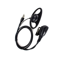 D Shape Ear Hook Headset Earpiece Headphone PTT for Midland Two Way Ham Radio GXT550 GXT650 75-785 75-786 75-810 Walkie Talkie
