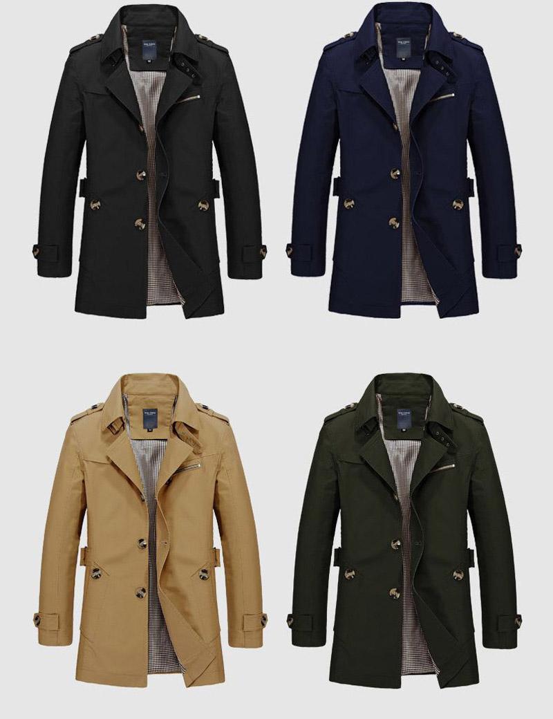 Korean Overcoat Khaki Black PLus size XXXL XXXXL 5XL british style Slim fit trench coat long men New Spring 2017 man Windbreaker (6)