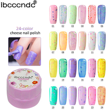7ml UV LED Cheese Sand Nail Gel 24 Colors Gel Polish Long-lasting Soak off Varnish Nail Shilak GelPolish For Nail Art Design(China)