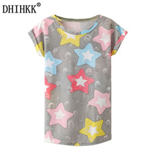 DHIHKK 2017 New Summer Kawaii Fashion T Shirt Harajuku Hole Tassel Style Stars Print T Shirt Short Sleeve T-shirt Women Tops