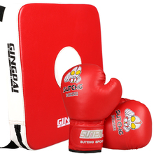 Children kids boxing pads Thai Kick Boxing Strike Pads Muay Arm Punch MMA For Boxing Taekwondo Foot Target And Boxing Gloves Set