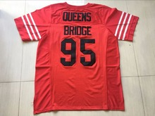 Stitched Prodigy 95 Hennessy Queens Bridge Football Jersey Red Double Sewn American Jersey S-3XL Free Shipping Viva Villa