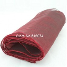 25 pieces burgundy Organza Table Runner Wedding Decoration ,to the visitors feel at home ,excellent  quality  best service