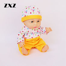 ZXZ 14 Inch Baby Boy Doll Reborn Doll with 4 voices IC For Kids Fast Shipping(China)