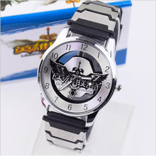 New Arrivel Lol heroes game surrounding anime cartoon transparent hollow men and women students creative relief watches