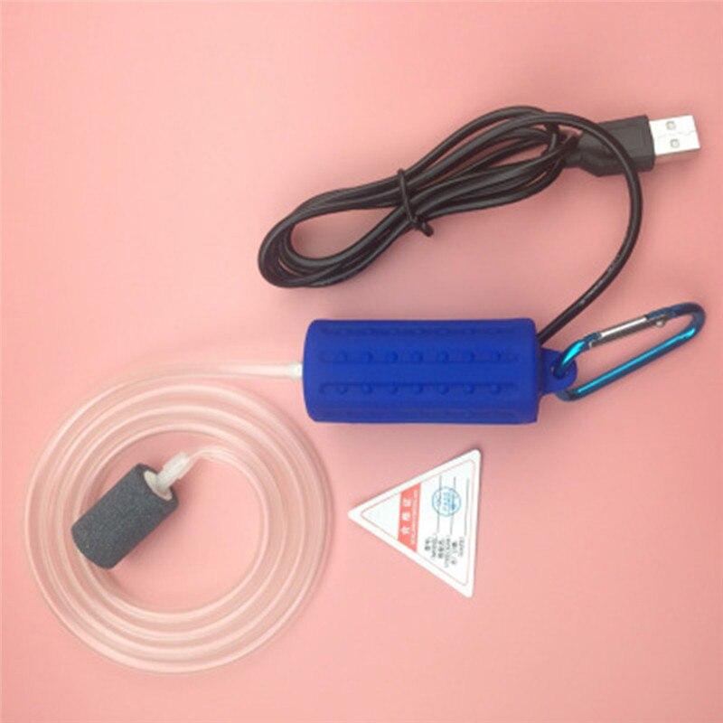 Aquarium Air Pump Portable Mini USB Oxygen Air Pump Mute Energy Saving Supplies Aquatic Terrarium Fish Tank Accessories 13