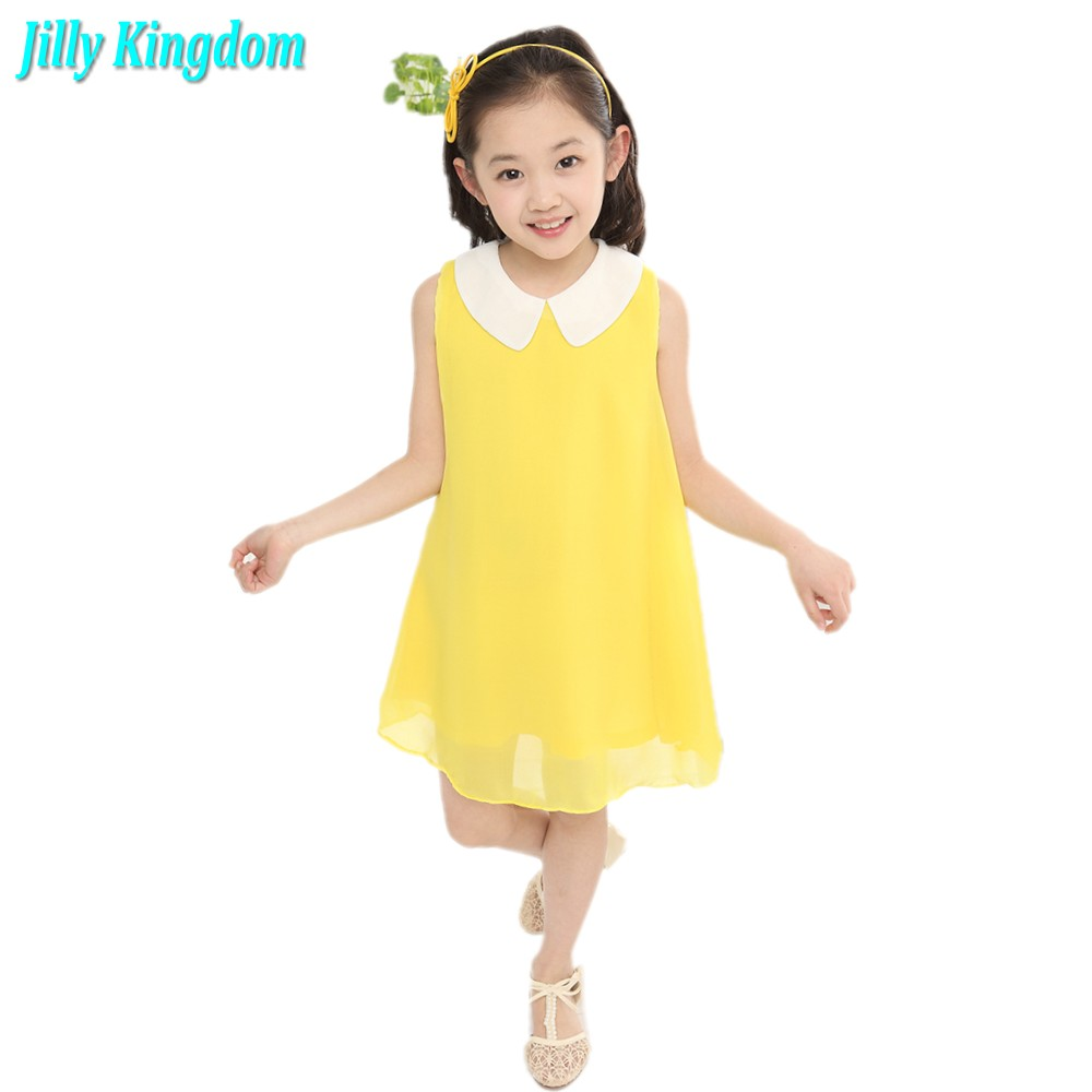 Aliexpress.com   Buy 2018 summer Chiffon dress new girl dress new free  shipping for 3 11 age bow floral Girls Princess Party Bow Kids Formal Dress  from ... 557542c65e46