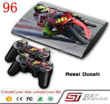 Motorcycle racing Skin sticker for ps3 super slim and 2 controller protective skin