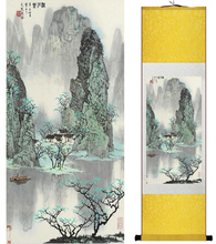 Mountain and River painting Chinese scroll painting landscape art painting home decoration picture 041711(China)