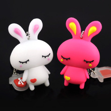 16GB usb flash, Cute rabbit usb flash drive 4GB 8GB 16GB 32GB usb thumb pen drive usb stick, 64GB catoon Rabbit pendrive(China)