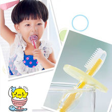 Buy 1pc Silicone Kids Teether Training Toothbrushes Children Baby Toothbrush Infant Newborn Brush Tool for $1.30 in AliExpress store