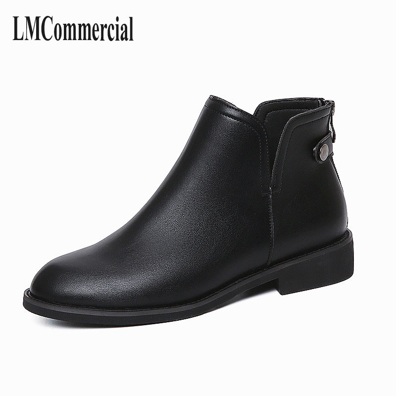 Women Martin boots, coarse and rubber soles, warm women boots, European and American pure color shoes, women winter boots womens<br>