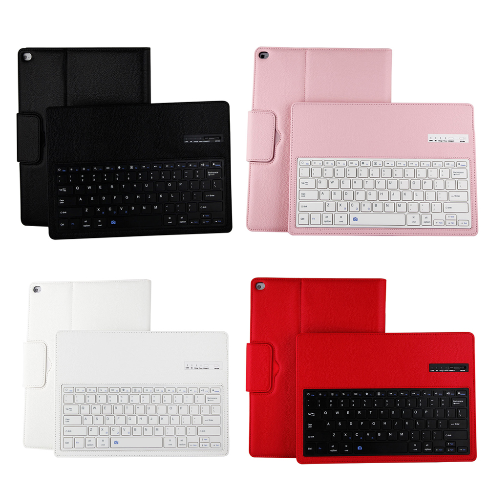 Ultra-thin  Detachable Magnetic Keyboard Wireless Bluetooth Keyboard PU Leather Case Cover For iPad Pro 12.9<br>