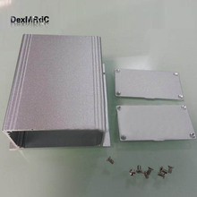Aluminum enclosure electric extruded box wall-mounting DIY 88X39X100mm NEW silver