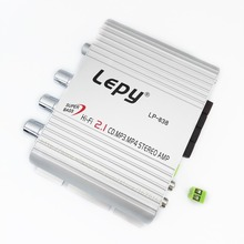 Free Shipping 2.1 3 Channel Stereo Mini Computer Car Amplifier Subwoofer Out Amplifier Lepai LP-838 Good Amplifier