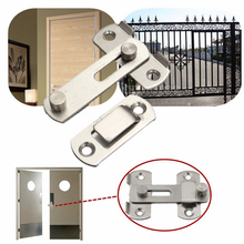 Jetting 1 Set New Stainless Steel Gate Door Bolt Latch Slide Lock Hardware + 4pcs Screw For Home Safety Best Selling