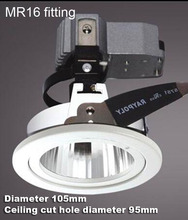 3 inch 3.5'' with junction box adjustable bulb trim recessed fitting lamp fixture white glare proof MR16 fixture downlight