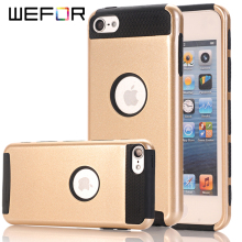 WeFor Hybrid Heavy Duty Case 2-in-1 Style Hybrid Hard Case Cover for Apple iPod Touch 5/6 Phone Cases Covers(China)
