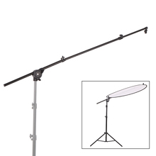 Extendable Photo Studio Photography Reflector Diffuser Holder Stand Boom Arm Support withClip Flexible Swivel Grip Head Clamp(China)