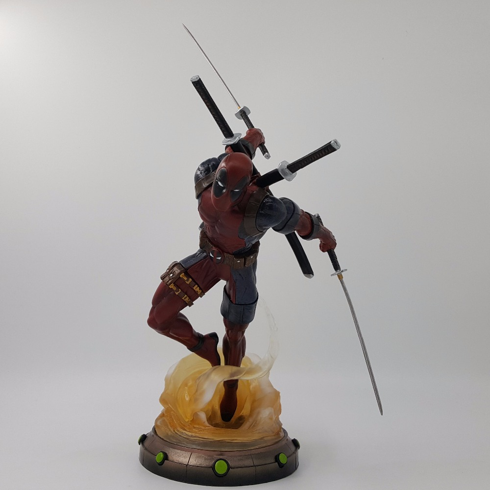 Deadpool Action Figure ARTFX+ X MEN X-MEN Wade Wilson Iron Man Wolverine Infinity War 27CM PVC Diorama Model Toy Gift<br>
