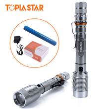 TOPIA STAR Brightest Tactical LED Flashlights Light Water Resistant Torch Professional for Camping Hunting