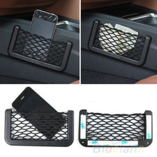 Universal Car Seat Side Back Storage Net Bag Phone Holder Pocket Organizer Black 8OSL