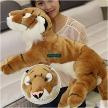 Dorimytradre Hot 28'' / 70cm Stuffed Soft Plush Giant Lying Emulational Animal Baby Tiger Toy, 2 Colors, Free Shipping DY60761(China)
