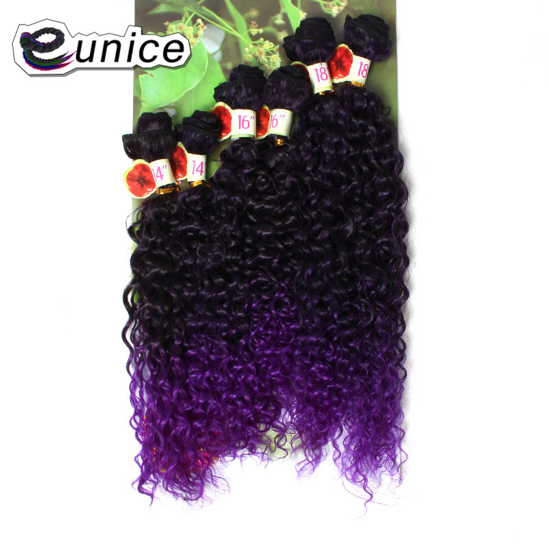 Jerry Curly Weave Hair Extension Sew in Synthetic weaving Wefts (7)