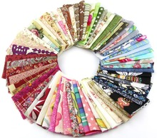 50pieces random color 10cm*10cm Remnant cloth fabric cotton fabric charm packs patchwork fabric quilting tilda creative design