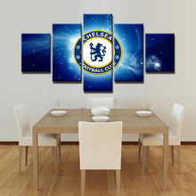 5 Panels Chelsea Football Club HD Wall Art Painting For Bedroom Canvas Modern Modular Art Painting Home Decorative Artwork