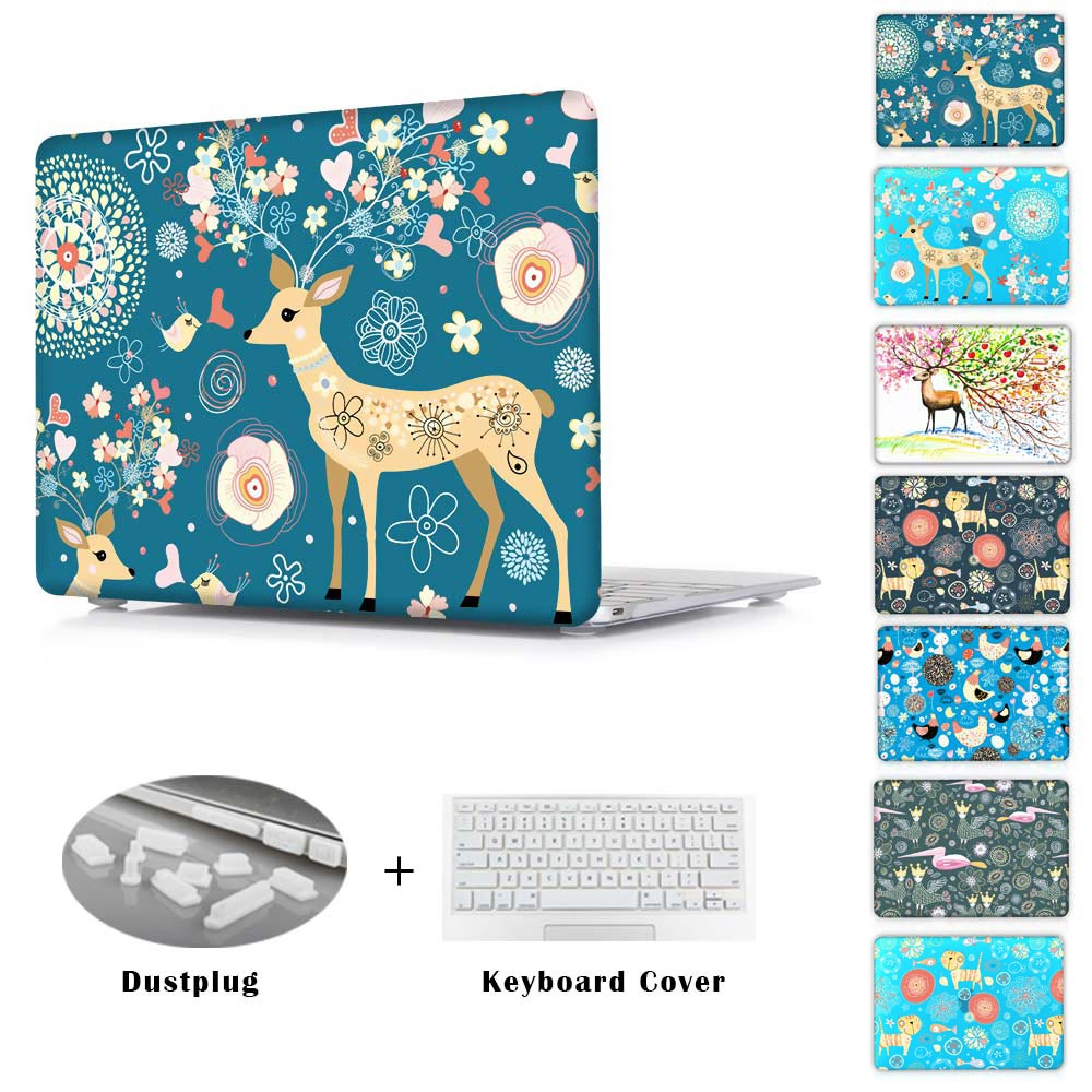 Nice Abulous Flower Deer For New Mac Hard Crystal Sleeve Cases For Macbook AIR 11.6 13.3 PRO RETINA 13 15 NEW 12INCH Cover<br><br>Aliexpress