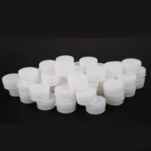 Portable 50pcs 5g/10g Mini Refillable Bottles Cosmetic Empty Cosmetic Jar Pot Eyeshadow Face Cream Container Box White