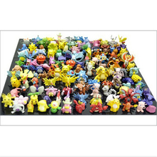Wholesale Lots 24 pcs mini random Pikachu Pearl Squirtle Figures toys 2-3 cm pocket monster Drop Shipping chaos black gifts kids
