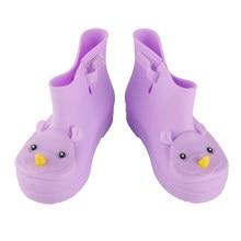 4 Colors Quality Comfortable Soft Children Kids Boots Mini Melissa Rhino Girls  Boy Rainboots Duck Jelly Shoes Short Water Shoes 4b726581bdf3