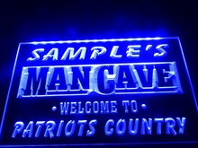DZ036- Name Personalized Custom Man Cave Patriots Country Pub Bar Beer  LED Neon Light Sign