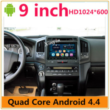 1024*600 HD Screen Android For Toyota Land Cruiser 200 2008 2007-2013 Car DVD Video stereo GPS Navi Radio wifi MAP
