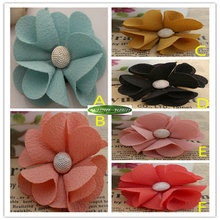 Fabric 4.8cm 25pc Wedding Party Church Decor Artificial Silk Rose Flower Head for Children Hair Clothes Brooch no clip 6 Color