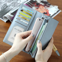 New arrival hasp two fold wallet for women wallets brands purse high quality designer purse card holder Mobile phone bag