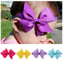 20Pcs/lot  3.5 Inch Kids Headband Ribbon Bow Headband For Newborn Hair Kid Top Knot Headband 568