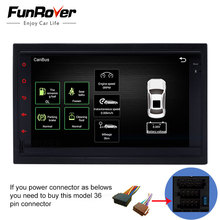 Funrover 2 din dvd-плеер автомобиля Android 6,0 стерео навигация gps в тире Wi-Fi видео usb для старых VW Skoda Superb Бора поло MK3 MK4(China)