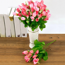 1 Bouquet 15 Heads Fake Magnolia Bud Artificial Flower Wedding Party Home Decor Store 48