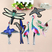 New fashion embroidery beads patch embroidered cloth paste large crane sequins clothing boutique diy decorative stickers