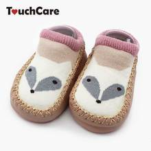 Touchcare Newborn Cartoon Fox Baby Socks Skidproof Walk Learning Toddler Socks Anti-skid Leather Bottom Baby Floor Socks