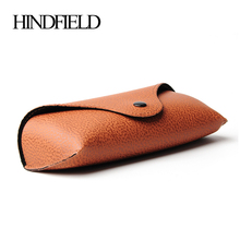HINDFIELD 10pcs/lot Wholesale PU leather Glasses case brand name sunglasses Box original eyeglasses packaging box(China)